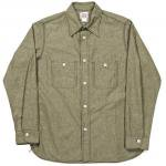 "Workers K&T H MFG Co""Basic Work Shirt, Green"""
