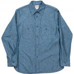"Workers K&T H MFG Co""Basic Work Shirt, Blue"""