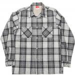 "Workers K&T H MFG Co""Open Collar Shirt, Gray"""