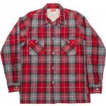 "Workers K&T H MFG Co""Open Collar Shirt, Red"""
