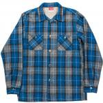 "Workers K&T H MFG Co""Open Collar Shirt, Blue"""