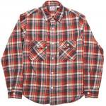 "Workers K&T H MFG Co""Flannel Shirt, Red"""