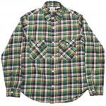 "Workers K&T H MFG Co""Flannel Shirt, Green"""
