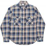 "Workers K&T H MFG Co""Flannel Shirt, Blue"""