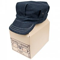 "BEAR BRAND ""ENGINEER & WORKMAN CAP""CONE® INDIGO SELVEDGE DENIM"
