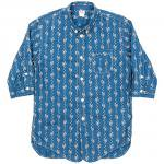 "Workers K&T H MFG Co""3/4 Sleeve Shirt, Floral Dots"""