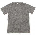 """Workers K&T H MFG Co""""Mock Twist T-Shirt, Gray"""""""