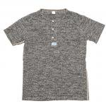 "Workers K&T H MFG Co""Henley Neck T, Gray"""
