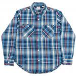 "Workers K&T H MFG Co""Indigo Flannel Shrit, Blue"""
