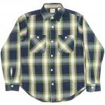 "Workers K&T H MFG Co""Indigo Flannel Shrit, Green"""