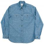 "Workers K&T H MFG Co""SUPER BIG CAT Shirt, Blue Chambray"""