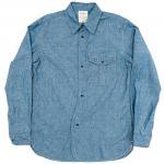 "Workers K&T H MFG Co""British Military Shirt Blue Chambray"""