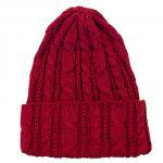 """HIGHLAND 2000 """"COTTON CABLE WATCH CAP""""lacquer(wine)"""