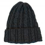 "HIGHLAND 2000 ""COTTON CABLE WATCH CAP""charcoal marl(gray)"