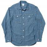 "Workers K&T H MFG Co""Acorn Work Shirt, Blue Chambray"""