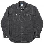 "Workers K&T H MFG Co""Acorn Work Shirt, Black Covert"""