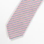 "Workers K&T H MFG Co""Narrow Tie,Cotton Linen seersucker, Tricolor"""