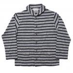"Workers K&T H MFG Co""Shawl Collar Cardigan, Gray/Navy"""