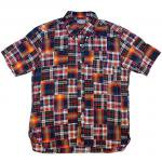 "SUGAR CANE ""PATCHWORK MADRAS CHECK B.D SHIRT"""