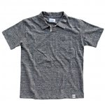 "RIDING HIGH ""LOOP WHEEL T-POLO"" mix charcoal"