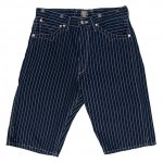 "SUGAR CANE F.ROMANCE""9oz. WABASH STRIPE ZIP FLY SHORT"""