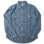 "SUGAR CANE ""BLUE SHAMBRAY L/S WORK SHIRT"""