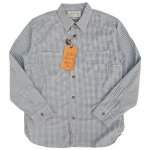 "SUGAR CANE""F.ROMANCE INDIGO COVERT GINGHAM CHECK WORK SHIRT"""