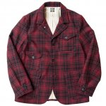 "SUGAR CANE""F.ROMANCE 21.25oz. WOOL CHECK CRUISER JACKET"" 20%OFF"
