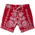 "CAL O LINE ""BANDANA SURF SHORTS,RED"
