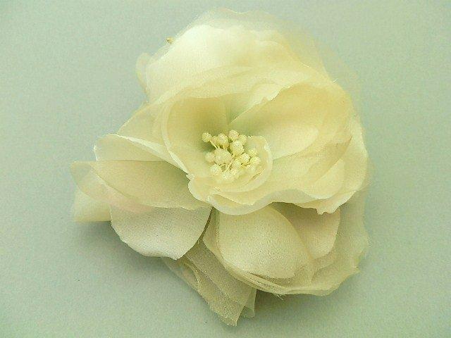 本絹サテンクレープと本絹オーガンジーの薔薇 Ⅱ