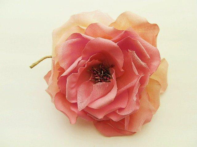 木綿の薔薇・ピンクグラデーション
