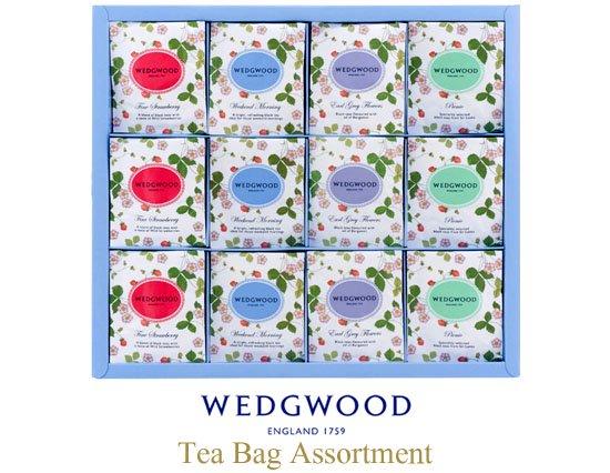 ウェッジウッド ワイルドストロベリーシリーズのティーバッグギフト(48pcs)