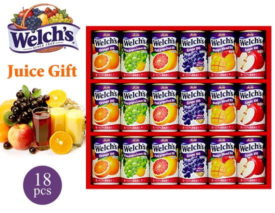 【夏ギフト】フルーツそのままのおいしさ!Welch'sの果汁100%ジュース(18本)