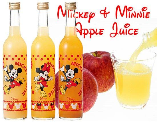 ミッキー&ミニーの 100%国産フレッシュりんごジュースセット(3本)