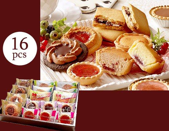 しっとり&サクサク フルーツ味のリッチな焼き菓子ギフト(16pcs)