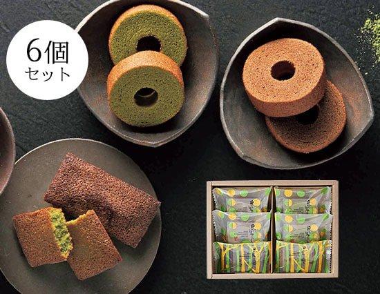 抹茶パフェを作った【京はやしや】の絶品抹茶焼き菓子ギフト(6pcs)