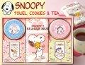 スヌーピーのクッキー&紅茶&ハンドタオルギフト(5pcs)