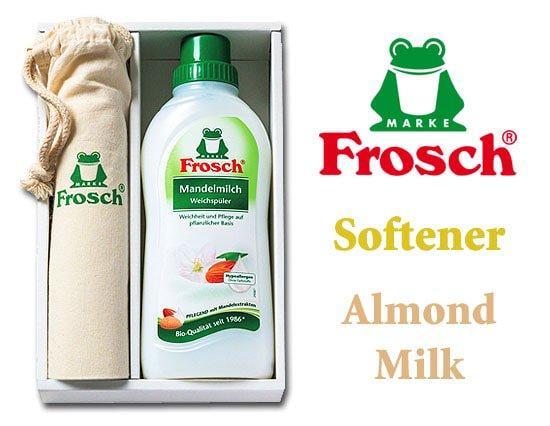 ドイツ製フロッシュ 植物由来の柔軟剤とかわいい巾着セット(アーモンドミルク)