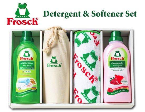 ドイツ製フロッシュ 植物由来のランドリーソープと柔軟剤のプレミアムギフト(4pcs)