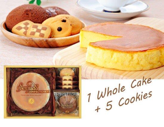 ふんわりホールチーズケーキとクッキーの詰め合わせ(whole1+5pcs)
