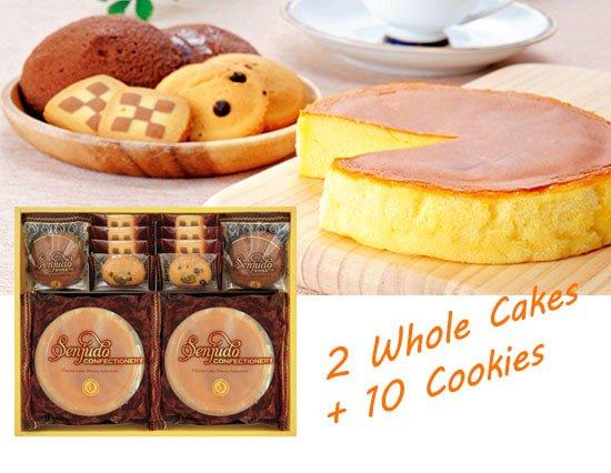ふんわりホールチーズケーキとクッキーの詰め合わせ(whole2+10pcs)
