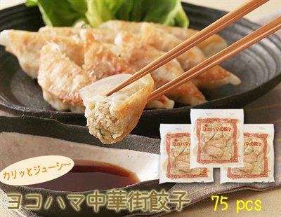 【直送】 カリッとジューシー♪化学調味料不使用のヨコハマ中華街餃子(25個×3袋)