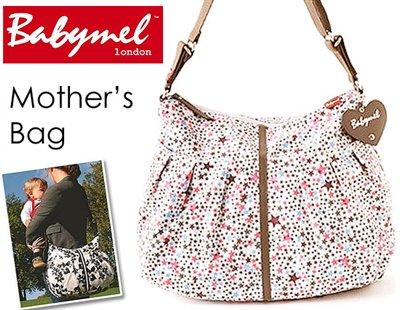 ロンドンスタイル ママのために作られたBabymelのマザーズバッグ(スターバーストピンク)