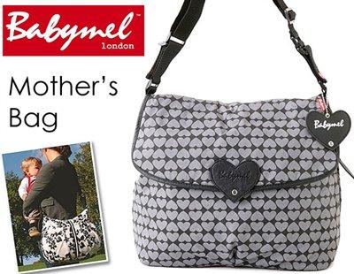 ロンドンスタイル ママのために作られたBabymelのマザーズ・サッチェルバッグ(グレーハート)