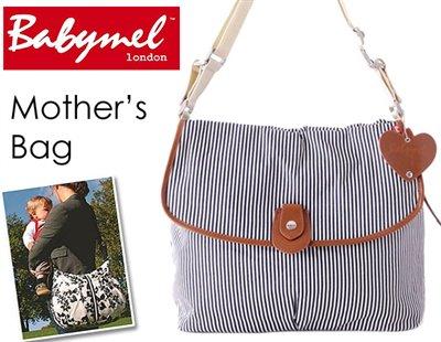 ロンドンスタイル ママのために作られたBabymelのマザーズ・サッチェルバッグ(ネイビーストライプ)